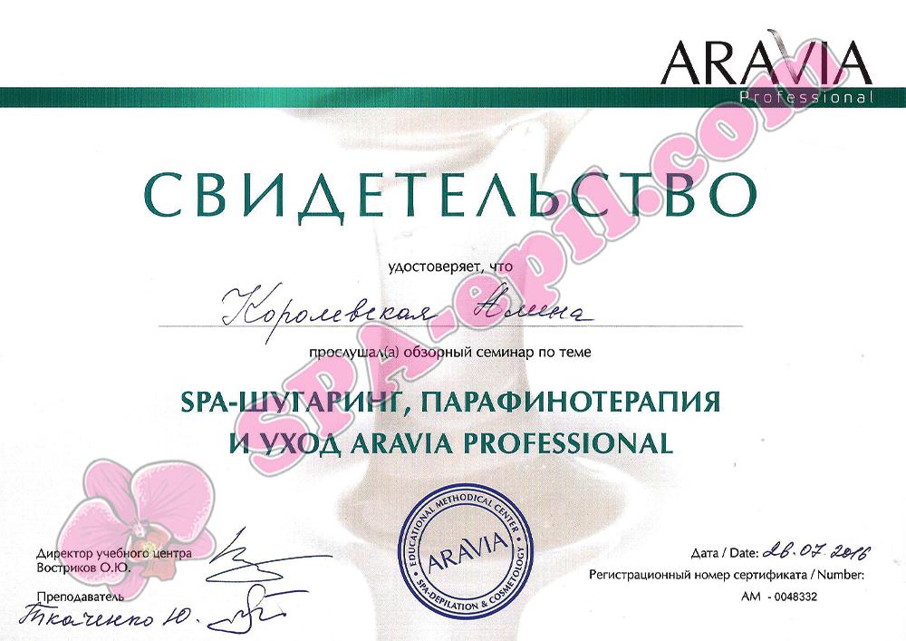 Обзорный семинар по шугарингу и парафинотерапии Aravia