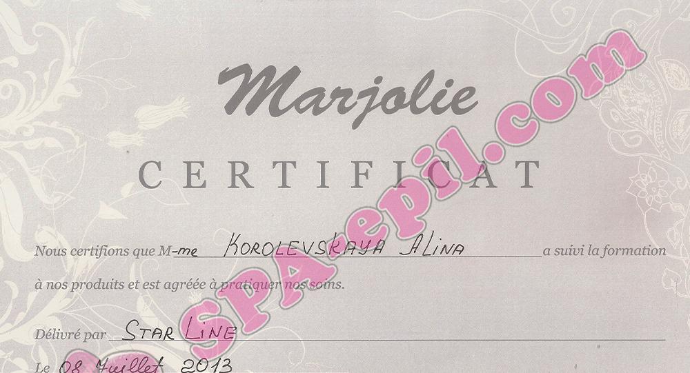 Базовый семинар Marjolie