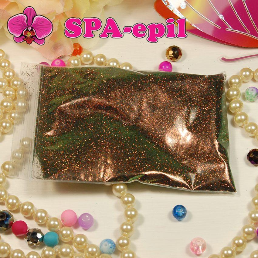 Блестки оттенка № 119 (хамелеон зеленый с красно-золотым отливом)