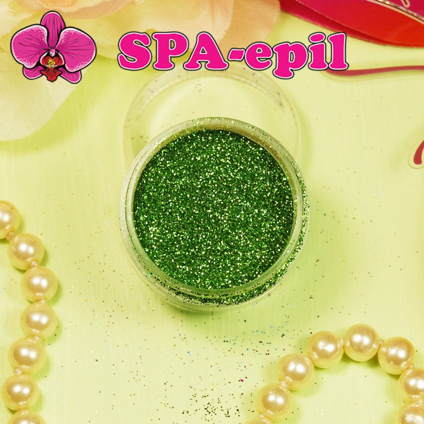 Блестки-глиттер оттенка № 46 (салатово-зеленый металлик)