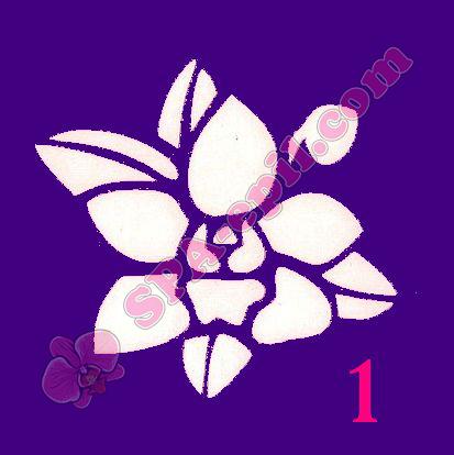 """Трафарет для биотату № 1 (""""Орхидеи 1""""), 8*8см"""