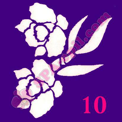 "Трафарет для биотату № 10 (""Орхидеи 10"")"