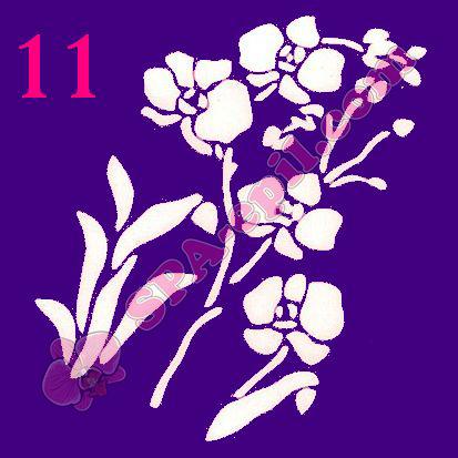 "Трафарет для биотату № 11 (""Орхидеи 11"")"