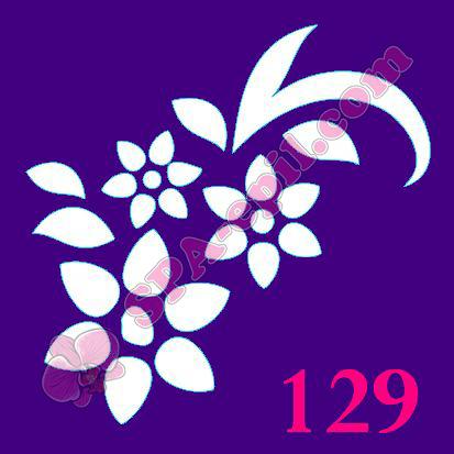 "Трафарет для биотату № 129 (""Цветочки"")"