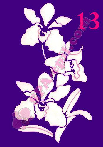 "Трафарет для биотату № 13 (""Орхидеи 13"")"