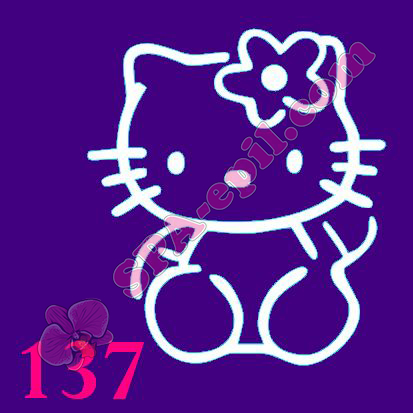 "Трафарет для биотату № 137 (""Hello Kitty"")"