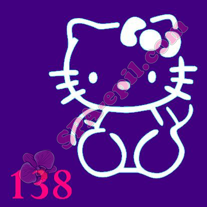 "Трафарет для биотату № 138 (""Hello Kitty"")"
