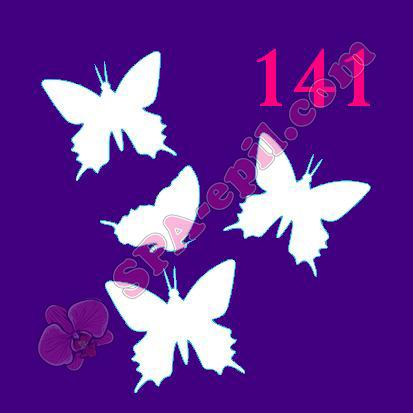 """Трафарет для биотату № 141 (""""Бабочки"""")"""