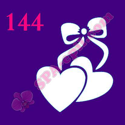 "Трафарет для биотату № 144 (""Сердечки"")"