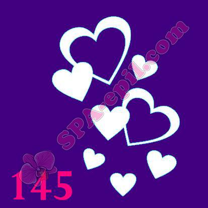 "Трафарет для биотату № 145 (""Сердечки"")"