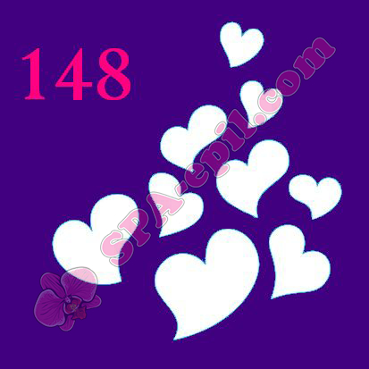 "Трафарет для биотату № 148 (""Сердечки"")"