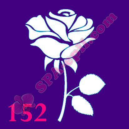 """Трафарет для биотату № 152 (""""Роза"""")"""