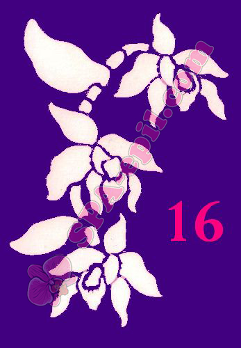 "Трафарет для биотату № 16 (""Орхидеи 16"")"