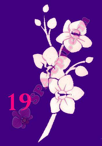 "Трафарет для биотату № 19 (""Орхидеи 19"")"