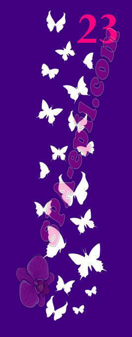 """Трафарет для биотату № 23 (""""Бабочки"""")"""