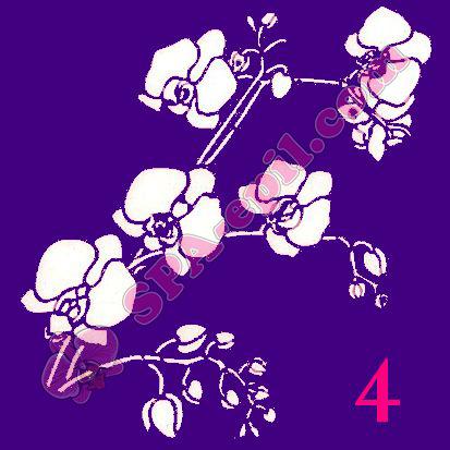 "Трафарет для биотату № 4 (""Орхидеи 4"")"