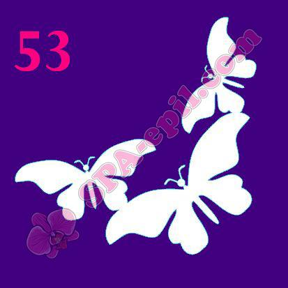 """Трафарет для биотату № 53 (""""Бабочки"""")"""