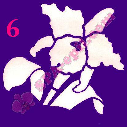 """Трафарет для биотату № 6 (""""Орхидеи 6""""), 8*8см"""