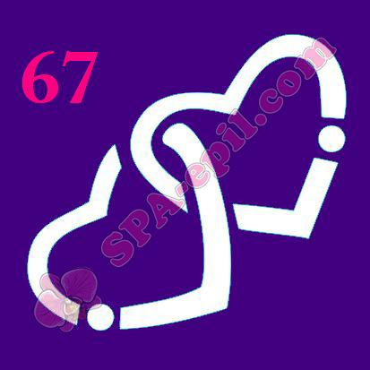 "Трафарет для биотату № 67 (""Сердечки"")"