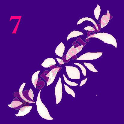 "Трафарет для биотату № 7 (""Орхидеи 7"")"