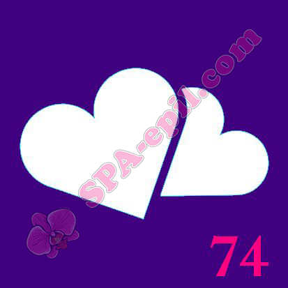 "Трафарет для биотату № 74 (""Сердечки"")"