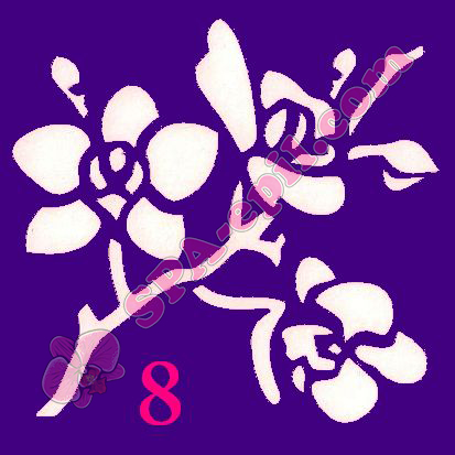 "Трафарет для биотату № 8 (""Орхидеи 8"")"