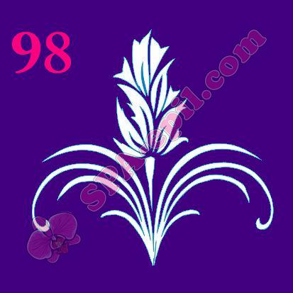 "Трафарет для биотату № 98 (""Цветок"")"